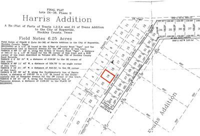 1 Lot 19 Timmons Ropesville TX 79358