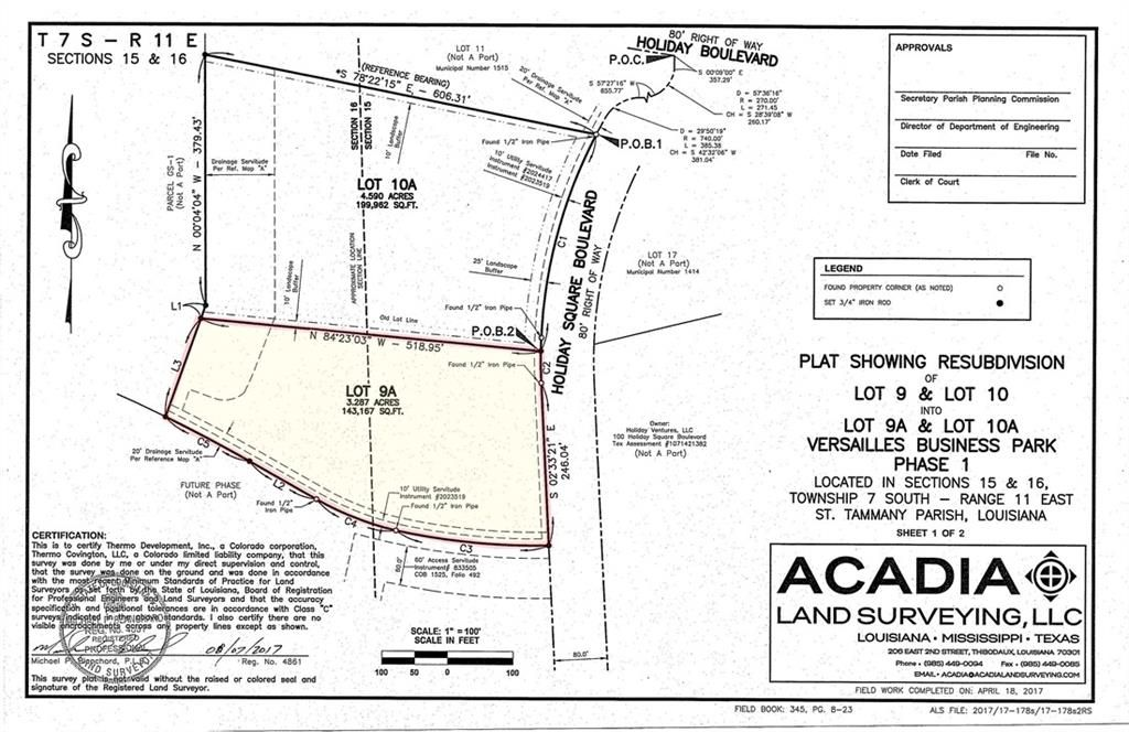 Lot 9a Holiday Square Boulevard